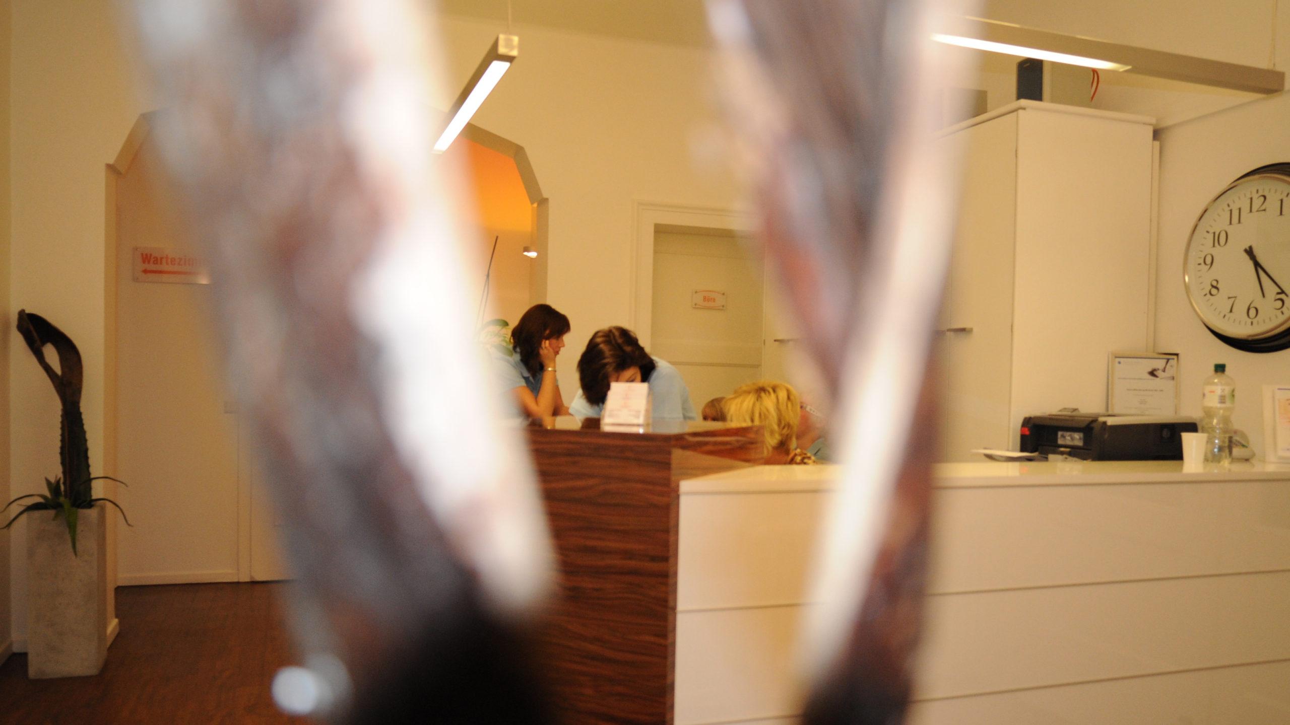 Zahnärztliche Gemeinschaftspraxis Enscheder Strasse 1 Foto Impression vom Empfang